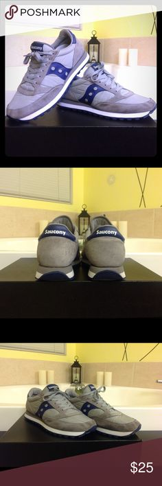 SAUCONY sneaker Classic SAUCONY Jazz running shoes. A classic. Size 11 in grey/blue combo.in good condition. Saucony Shoes Sneakers