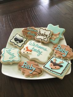 woodlands cookies baby shower