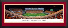 Virginia Tech Hokies Panoramic Picture - Lane Stadium / Worsham Field Panorama - Deluxe Frame $199.95