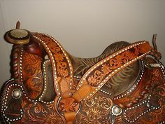Circle Y Vintage Show Saddle Buckstitching and Silver Near Mint Condition | eBay