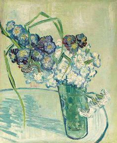Vincent van Gogh - Still Life, Vase of Carnations (Nature morte, vase avec oeillets) (1890).