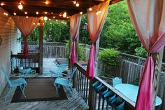 DIY ombre curtains. Make your deck/porch more intimate.