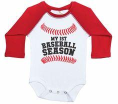 a2b81f782 Raglan Baseball Onesie, My First Baseball Season, Raglan Baby Bodysuit,  Newborn Baseball Outfit, Uni