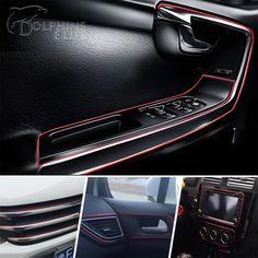 3 M/lote Car styling Decoración de Salida de Aire de rosca Insertar etiqueta Salpicadero interior Tira de La Decoración Accesorios Del Coche de Estilo