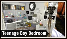Dinha Gamer: Teenage Boys Room • Sims 4 Downloads