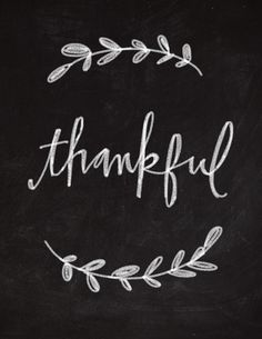 Thankful Chalkboard Art