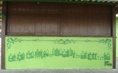 Quiosque com azulejos pintados, Barra de São João, RJ