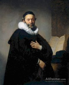 Rembrandt Van Rijn Johannes Wtenbogaert, Remonstrant Minister oil painting reproductions for sale
