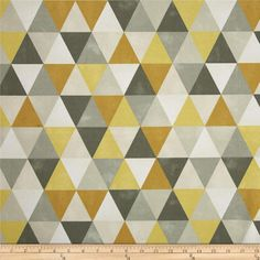 This indoor/outdoor fabric is stain and water resistant, very family friendly and perfect for outdoor settings and indoors in sunny rooms. It is fade resistant up to 500 hours of direct sun exposure. Create decorative toss pillows, cushions, chair pads, placemats, tote bags, slipcovers and upholstery. Colors include gold, yellow, dark grey, light grey, ivory and white.