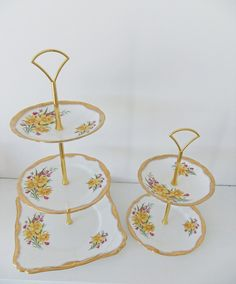 Tiered Cupcake Stand Daffodil cake stands by #peonyandthistle via '#Etsy.