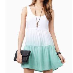 Green Ombr Dress From Tobi