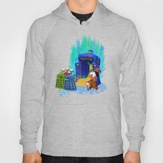 The Doctor who Tales Hoody #hoody #clothing #tales #coin #dalek #mickeymouse #donaldduck #cat #mouse #doctorwho #davidtennant #10th #fog #mist #tardis #whovian #mashup #timelord #timetravel