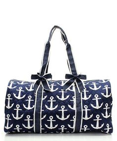 Personalized Navy Anchor duffle by sewsassybootique on Etsy