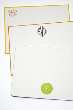 Monogrammed Stationery With Victorian French Laurel Wreath