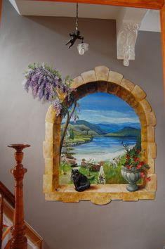 Acryl malen Natureza - Concursos - How To Choose Laminate Flooring For Your Home Article B Window Mural, Mural Wall Art, Door Murals, Small Canvas Paintings, Diy Canvas Art, 3d Wall Painting, Garden Mural, Murals Street Art, Wooden Wall Art