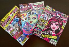 Monster High 2016 Lot Magazine Issues Jan Feb March April and May New UNREAD | eBay