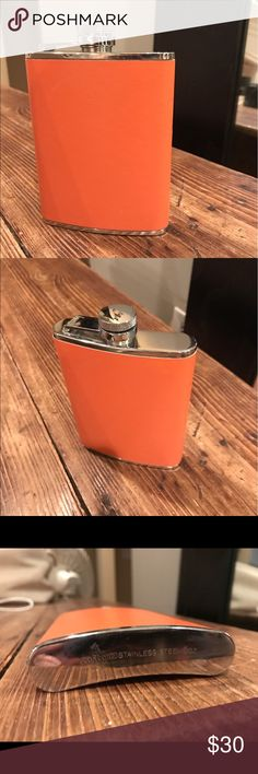 Concord Flask Orange Concord imported Flask.. never has been used . Stainless Steel. Fits in back pocket Concord Other
