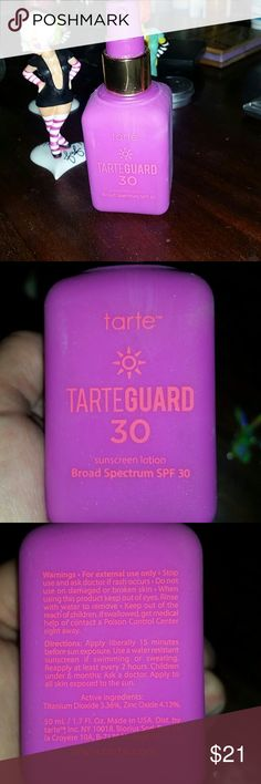 Tarte Cosmetics Tarteguard 30 Sunscreen Lotion Broad Spectrum SPF30 -brand new -$32 new online -Tarte's first ever, non-chemixal sunscreen helps protect, moisturize, and brighten skin for a youthful - looking appearance with it's hypoallergenic and vegan-friendly formula. tarte Makeup