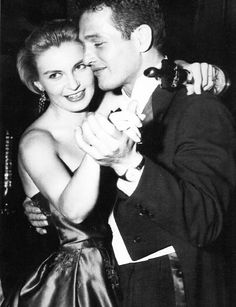 Joanne Woodward, who had just won the Oscar for the film The Three Faces of Eve, dancing with Paul Newman