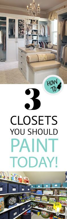 Make your closets a statement piece by painting the inside to match the room. A painted closet will make your storage room upgrade and beautiful.