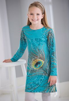 From CWDkids: Peacock Sequin Dress