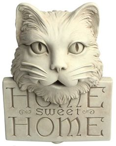 Carruth Studio 1000 Home Sweet Home Kitty by Carruth. $44.99. Introduces character to your garden or porch. Crafted with whimsical detail. Measures 6-1/4 inches long, 2-1/2 inches wide, and 8-1/4 inches high. Made of stone concrete. Cast from an original design by Carruth Studio. Amazon.com                Designed with the same delightful wit that you find in all of  Carruth Studios décor pieces, Home Sweet Home Kitty is a  charming way to introduce character to your gar...