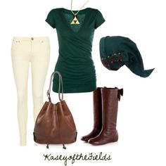 """Hero of Time"" by kaseyofthefields on Polyvore....OMG. so cute haha for Zelda themed outfit ^^"