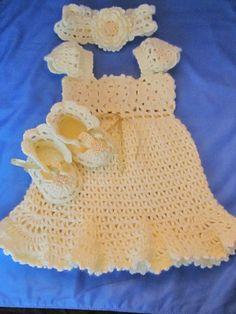 Crochet Baptism/Christening Set/Handmade Baby by MagicalStrings, $75.00