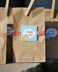 thank you - favor bag tag