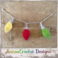 Annoo's Crochet World: Free Crochet Christmas Ornament Garland Pattern