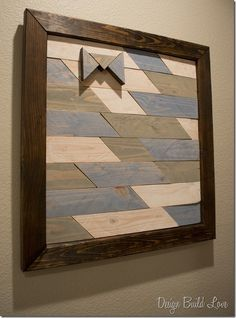 Make your own wall art using recycled wood