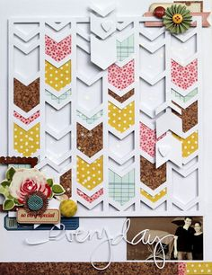 gorgeous scrapbook page :: by Piradee