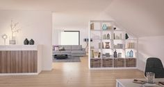 Use sloping ceilings - THE HOUSE - Use the sloping roof Informations About Dachschräge nutzen – DAS HAUS Pin You can easily use my p - Custom Made Furniture, Cheap Furniture, Furniture Making, Attic Storage, Bedroom Storage, Kallax, Cheap Room Dividers, Living Room Bookcase, Small Loft