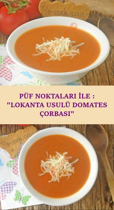 Püf Noktaları İle : Lokanta Usulü Domates Çorbası Delicious or delicious, restaurant-style tomato soup recipe that you can easily make with all the tricks … Tomato Soup Recipes, Healthy Soup Recipes, Potato Recipes, Restaurant Soup Recipe, Delicious Restaurant, Vegan Pumpkin Soup, Cooking Pumpkin, Roasted Tomato Basil Soup, Healthy Grilling