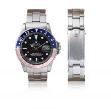 """Rolex GMT-MASTER 1675  Years 78  Discoulored """"Pepsi"""" Dial  Oyster bracelet 7206 Riveted original expandable 20mm  All Original"""