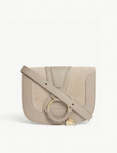 75804bc357e9 SEE BY CHLOE - Hana small suede and leather cross-body bag
