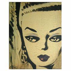 "Debbie Curtis ""You Be Midge"" Painting on Chairish.com"