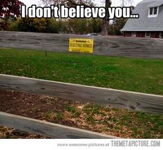 Beware of electric fence!