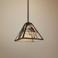 """Quoizel Russell 7"""" Wide Rod-Hung Mini Pendant Light -"""