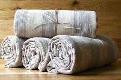 Bodrum Linen Towel from Indigo Traders - Fine Mediterranean Textiles