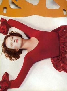 "Vogue Italia September 1997 - ""Eccentricità Pt.1""  Karen Elson by Craig McDean. Styled by Alexandra White. Hair : Eugene Souleiman. Makeup : Pat McGrath.  [Fashion and Editorials]"