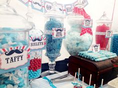 Mustache Themed Baby Shower - Candy Buffet By: Sweet Tooth Candy Buffets Facebook.com/SweetToothBuffets
