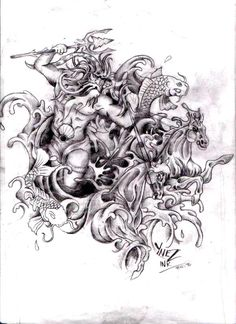 Poseidon The God Tattoo Pictures To Pin On Pinterest