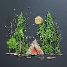 Love this landscape diorama idea for kids kids crafts art for kids outdoor art 17 super fun kids garden projects to pursue in spring Projects For Kids, Diy For Kids, Kids Crafts, Arts And Crafts, Kids Nature Crafts, Camping Activities For Kids, Christmas Art Projects, Nature Activities, Leaf Crafts