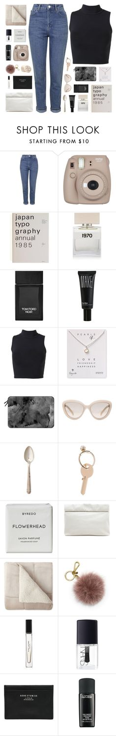 """midnight city"" by nothing-like-the-rain ❤ liked on Polyvore featuring Topshop, Bella Freud, Tom Ford, Make, Dogeared, Casetify, Prada, Maison Margiela, Byredo and Marie Turnor"