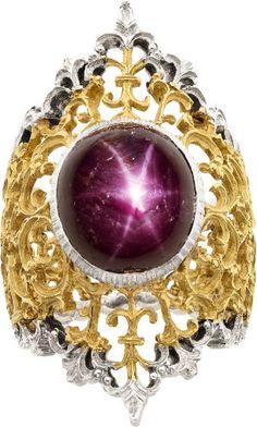 Estate Jewelry:Rings, Star Ruby, Gold Ring, Buccellati. ...