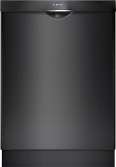 "Bosch - 300 Series 24"" Pocket Handle Dishwasher with Stainless Steel Tub - Black"