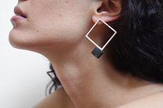 LENGO - ELENI GOUGA-GR silver earings   Architect's Fashion