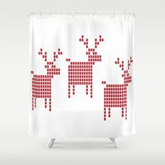 Items similar to Reindeer Chirstmas Shower Curtain - 71 in x 74 in Gift Cute Kids Children Fantasy Apartment Bath Bathroom Nursery Decor Accent Original Art on Etsy