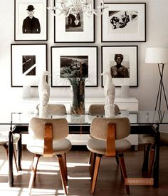 Modern dining room glass table Dining Room Ideas with Glass Table - Glass dining room table Decoration Inspiration, Dining Room Inspiration, Interior Inspiration, Interior Ideas, Design Inspiration, Glass Dining Table, Dining Chairs, Wood Chairs, Eames Chairs